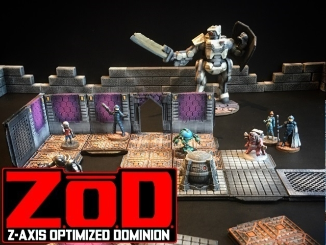 Z.O.D Terrain Tiles (Core Set) 3D Print 163847
