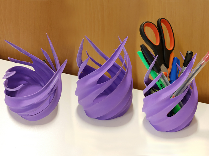 Fire whirl pencil holder 3D Print 163936