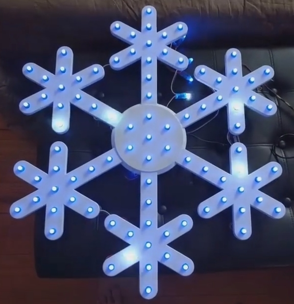 Medium Snowflake to use with pixel LEDs 3D Printing 164117