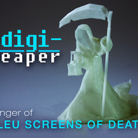 Small Digi-Reaper(blue screen of death) 3D Printing 16414