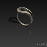 Small elegant ring design​ 3D Printing 164140