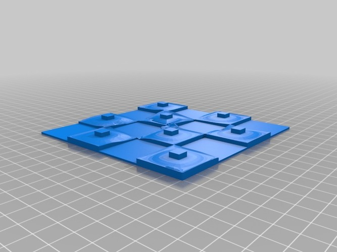 Martian-base Chess 3D Print 16433