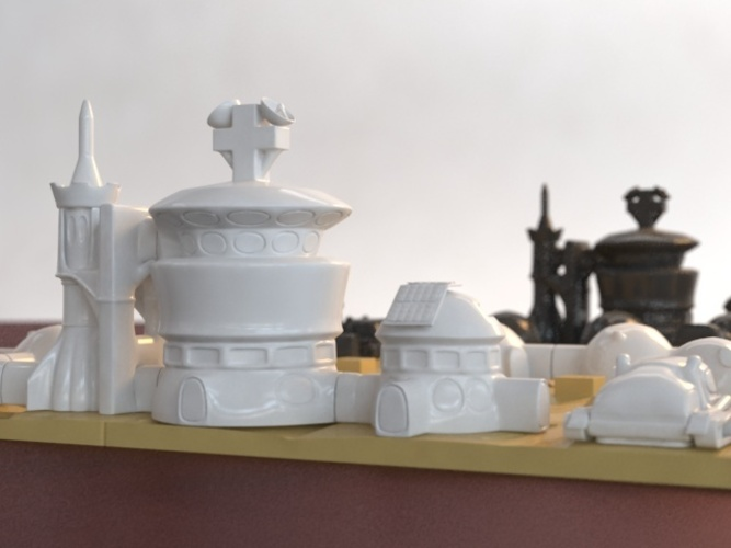 Martian-base Chess 3D Print 16436