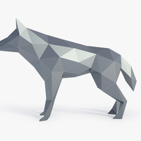 Small Low Poly Wolf 3D Printing 164387