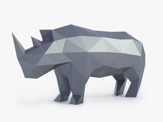 Low Poly Rhinoceros 3D Print 164407