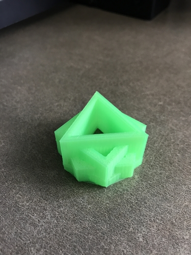 Triangle in a Square in a Pentagon in a Hexagon 3D Print 164416
