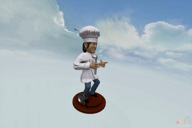 Chef Cool Guy 3D Print 164427