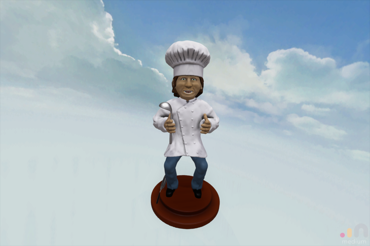 Chef Cool Guy 3D Print 164428