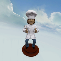 Small Chef Cool Guy 3D Printing 164428