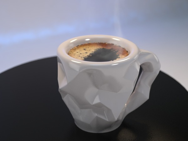 Medium Crushed Espresso cup 3D Printing 16468