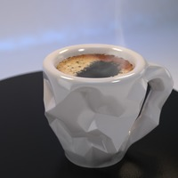 Small Crushed Espresso cup 3D Printing 16468