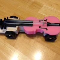 Small Pinewood Violin Car Remix with Bridge and Strings 3D Printing 164705