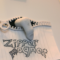 Small Zipper Magnet 3D Printing 16476