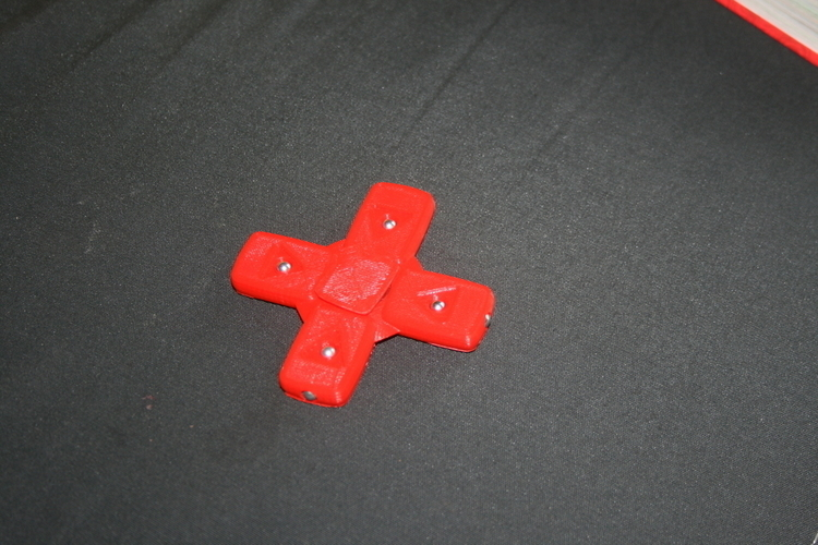 YouTube Play bouton Spinner 3D Print 164856