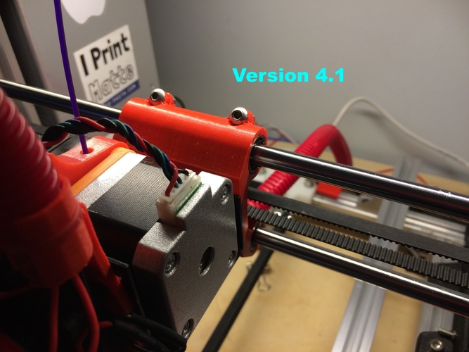 Adjustable Stop X Carriage - Max Micron and other Prusa i3 3D Print 165028