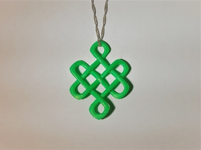 Celtic Knot of Longevity Pendant 3D Print 165114