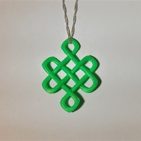 Small Celtic Knot of Longevity Pendant 3D Printing 165114