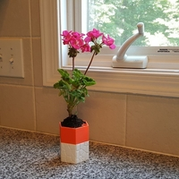 Small Self-watering Planter 3 3D Printing 165120