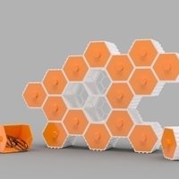 Small The HIVE - Stackable Hex Drawers 3D Printing 165142