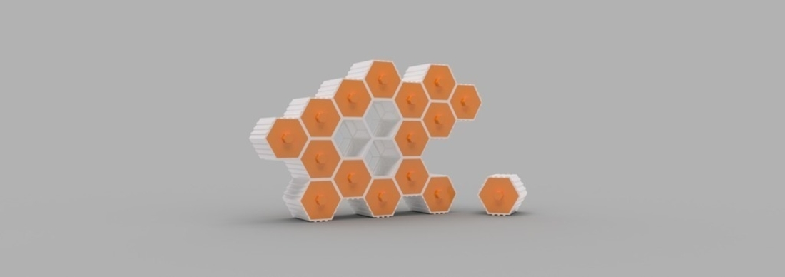 The HIVE - Stackable Hex Drawers 3D Print 165143