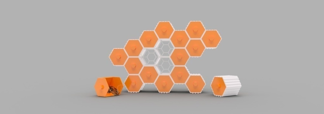 The HIVE - Stackable Hex Drawers 3D Print 165146