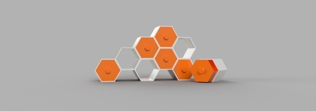 Modular Hex Drawers 3D Print 165185