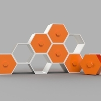 Small Modular Hex Drawers 3D Printing 165185