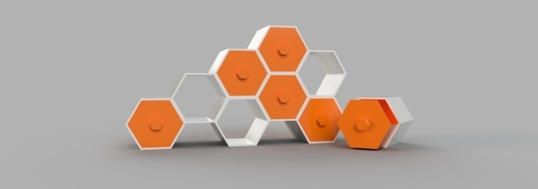 Modular Hex Drawers 3D Print 165186
