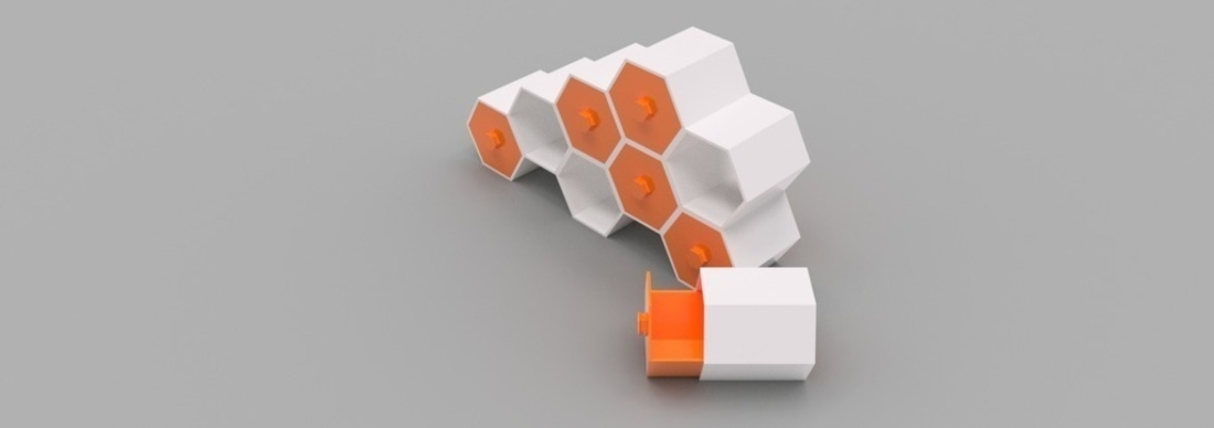 Modular Hex Drawers 3D Print 165187