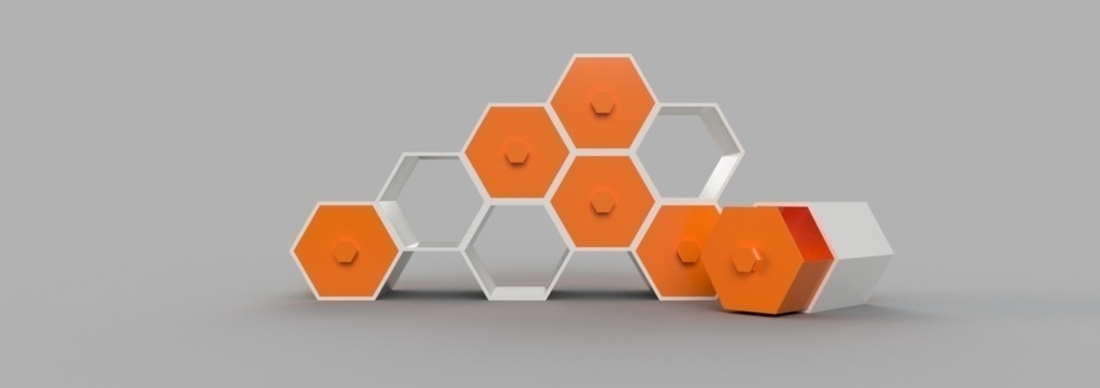 Modular Hex Drawers 3D Print 165188