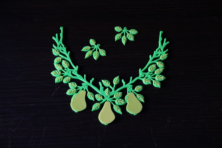 Pear Jewelry Set (easy to print) 3D Print 16520