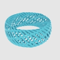 Small Twisted Diagrid Bracelet 3D Printing 165201