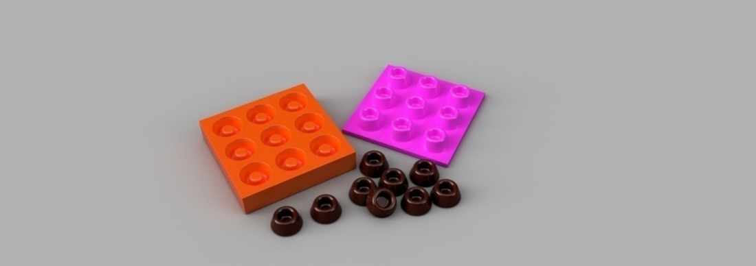 Chocolate Mold 3D Print 165227