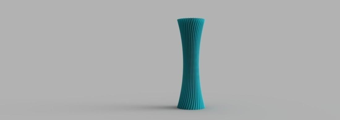 3d Printed Spiral Vase By O3d Pinshape