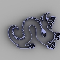 Small Drexel Dragon Cookie Cutter 3D Printing 165243