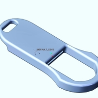 Small Penny Bottle Opener Keychain 3D Printing 165289