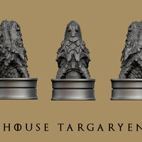 Small Game of thrones - House Targaryen 3D Printing 165349