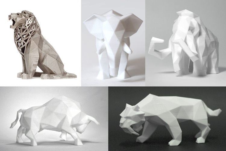 Low Poly Animals Collection 3D Print 165394