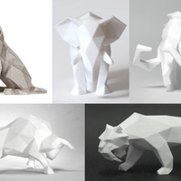 Small Low Poly Animals Collection 3D Printing 165394