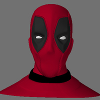 Small DeadPool head 3D Printing 165493