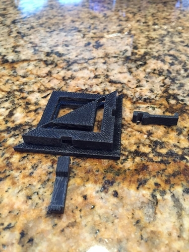 Fireplace cover brackets 3D Print 165501