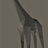 Small Low-Poly Giraffe 3D Printing 165531