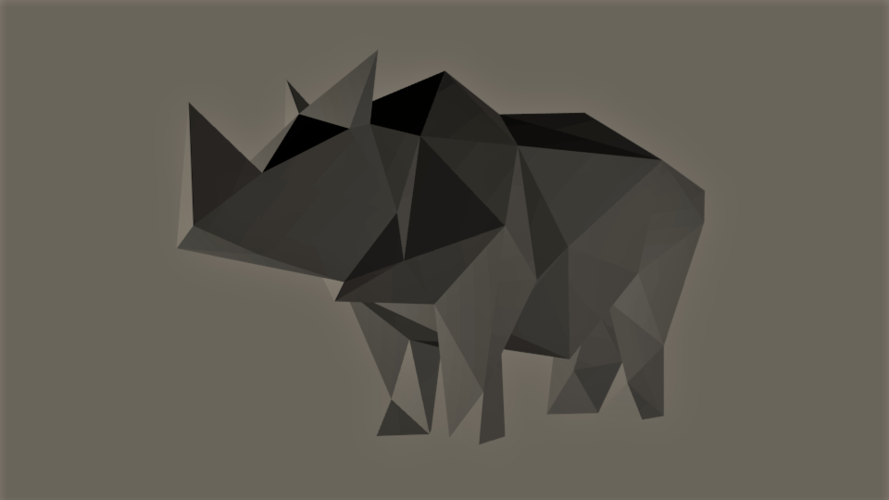Low-Poly Rhino 3D Print 165532