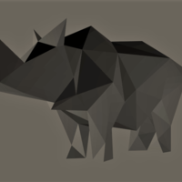 Small Low-Poly Rhino 3D Printing 165532