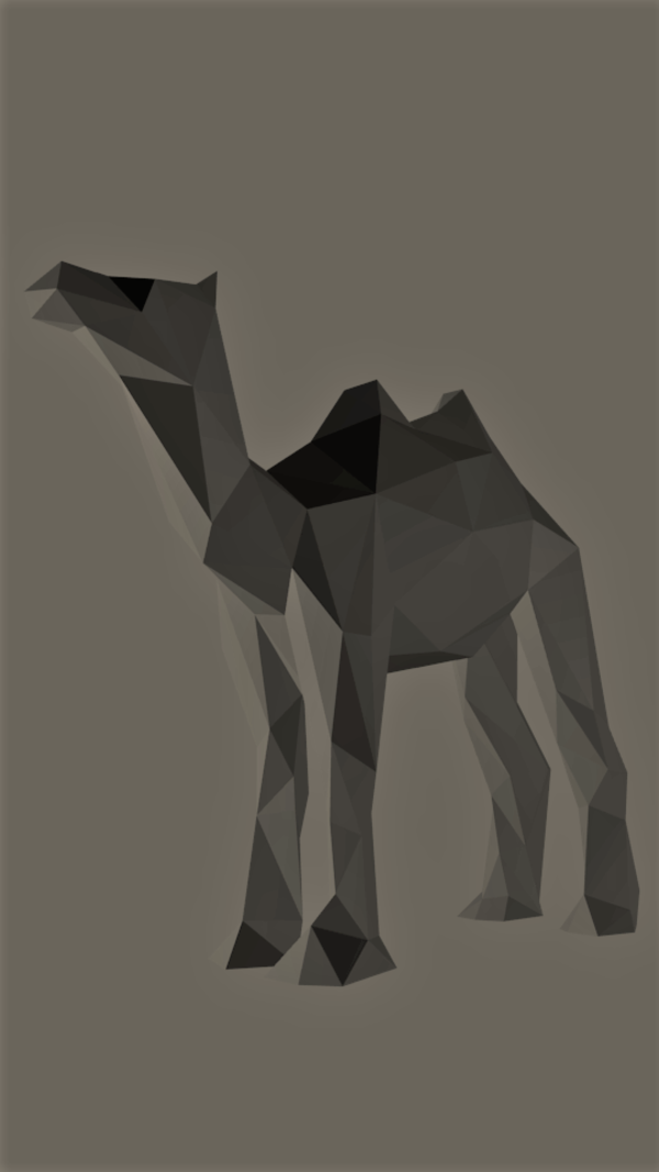 Medium Low-Poly Camel 3D Printing 165533
