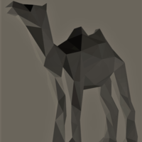 Small Low-Poly Camel 3D Printing 165533
