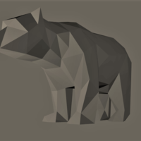 Small Low-Poly Bear 3D Printing 165534