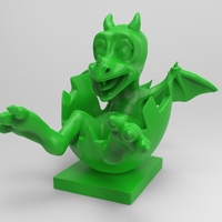 Small Baby Dragon 3D Printing 16556