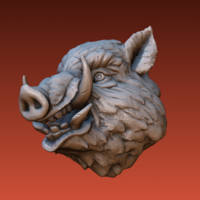 Small Boar head 3D Printing 165812