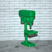 Small Scale 1/10 Pedestal pillar drill 3D Printing 165945